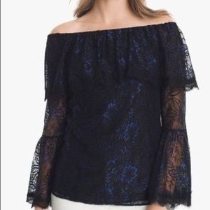 WHBH Off the Shoulder Lace Top NWT